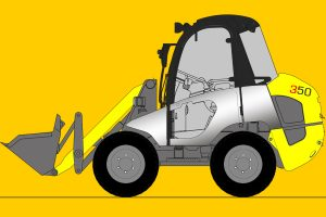 Radlader mieten, Baumaschinenverleih, Baumaschinenvermietung