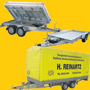 PKW Anhänger, PKW Transporter, Motorad Transporter, 3 Seiten Kippanhänger, Rückwärtskipper, Pferdeanhänger...