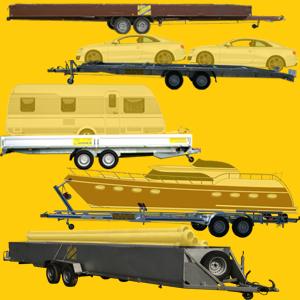 PKW Transporter, Motorad Transporter, Bootstrailer- Anhänger, Bootstransporter, Bootstrailer, Extra Lange Anhänger, XXL spezial Anhänger...